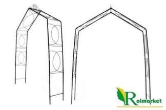 Duża, ozdobna metalowa pergola ogrodowa Ga018