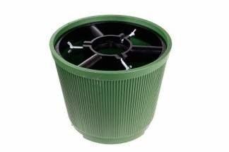 Duży stojak choinkowy z mocnego tworzywa, zielony 10 litrów (10 szt)