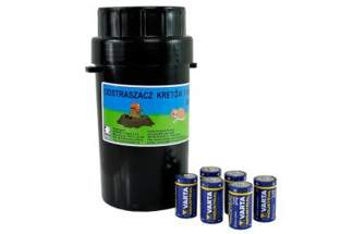 Elektroniczny odstraszacz kretów i nornic OdK-H2 z bateriami w zestawie