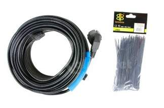 Kabel grzewczy 4m z energooszczędnym termostatem 34256 + opaski kablowe Gratis!