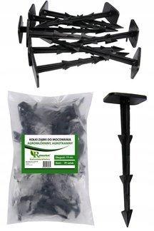 Kołki plastikowe do mocowania agrotkaniny, agrowłókniny i geowłókniny 14cm ZĄBKI (25 szt.)