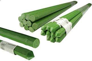 Metalowa tyczka ogrodowa, powlekana PCV do podpierania roślin 1,1cm x 120cm - 10 szt