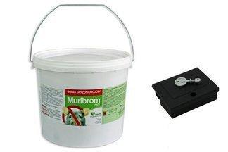 Muribrom pasta 3kg wiadro + karmnik Mouse Box