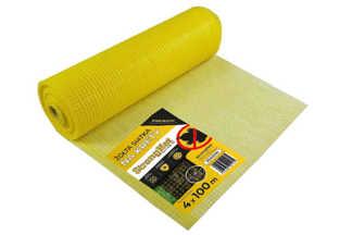 Najmocniejsza siatka przeciw kretom StrongNet - włoska (siatka na krety), oczko 15x19, kolor żółty 4x100m