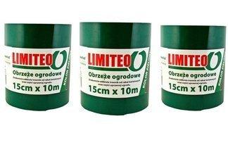 Obrzeże trawnikowe ogrodowe zielone, proste 15cm x 30m LIMITEO