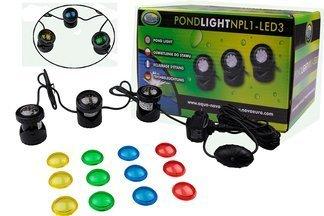 Oświetlenie do oczka wodnego NPL1-LED3 Aqua Nova 12V 3x1,6W
