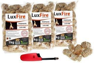 Podpałka długopaląca z wełny drzewnej LUX FIRE 3kg + zapalarka GRATIS