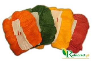 Rękaw siatkowy do pakowania warzyw i owoców - żółty, 0,38x100m