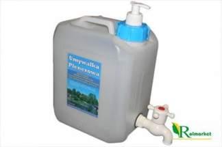 Umywalka turystyczna 5 litrów - pojemnik na wodę z kranikiem + dozownik na mydło