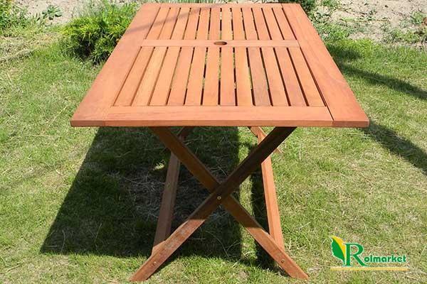 Meble Ogrodowe Z Drewna Eukaliptusowego Opinie : Stół ogrodowy drewniany prostokątny składany 88225 Villa Toscana