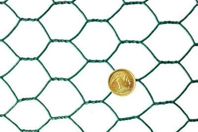 Siatka do budowy wolier 0,5x25m, oczko 20mm, PCV