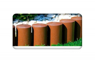 Palisada ogrodowa MAXI3 brązowa z teksturą drewna