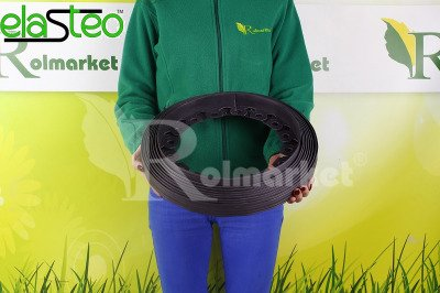 Obrzeże trawnikowe ogrodowe czarne 40mm x 10m Elasteo + 30 kotew