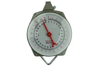 Waga zegarowa zawieszana z hakami 25 kg