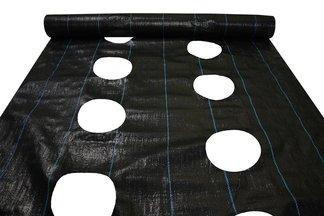 Agrotkanina czarna z otworami Agritella 1,1x15m 90g