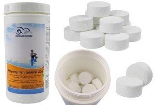 Chemochlor - aktywny tlen tabletki do dezynfekcji wody basenowej metodą tlenową 1kg