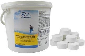 Chemochlor - multifunkcyjne tabletki do pielęgnacji i oczyszczania wody basenowej 5kg