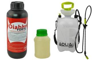 Diablo Forte – profesjonalny środek na odkomarzanie (komary, kleszcze i inne insekty) 1000 ml + utrwalacz do oprysku  250 ml + Opryskiwacz 5l