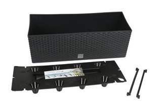 Doniczka dekoracyjna RATO DRTC600 CASE z systemem nawadniającym, antracyt, długość 60cm