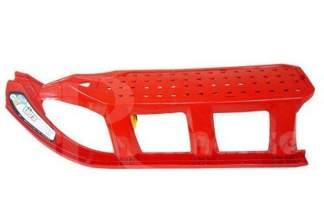 Duże plastikowe sanki dla dzieci Tatra IST czerwone z linką i rączką