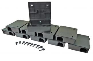 Duży karmnik deratyzacyjny na szczury  i myszy BOX 10szt + 10szt kluczyków