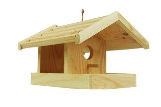 Duży karmnik dla ptaków, sikorek z drewna