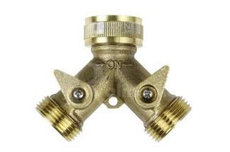 Mosiężny rozdzielacz (adapter) 2-drożny z zaworami 3/4'' X6BBS Khayer