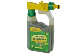 Nawóz dolistny do trawników z mchem SprayGreen 950 ml Zielony Dom konewka