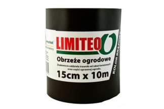 Obrzeże trawnikowe ogrodowe brązowe, proste 15cm x 10m LIMITEO - 10 sztuk