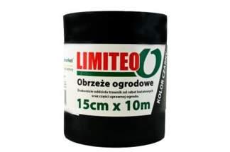 Obrzeże trawnikowe ogrodowe czarne, proste 15cm x 10m LIMITEO