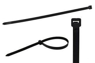 Opaski kablowe czarne 2,5x200mm (100 szt.)