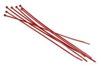 Opaski kablowe czerwone 3,6x300mm (100 szt.)