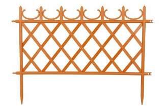 Ozdobny płotek ogrodowy MATEO 50cm terakota - 1 sztuka