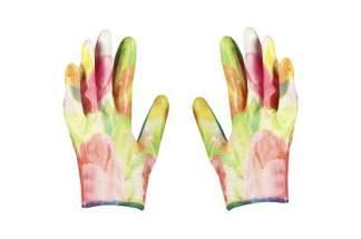 Rękawice ogrodowe dla kobiet, tulipany Greenmill GR0046 (1 para)