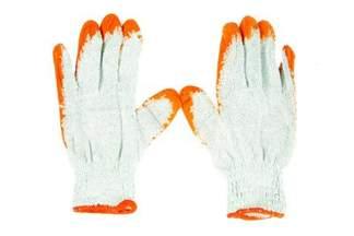 Rękawice robocze WAMPIRKI L pomarańczowe 100 par