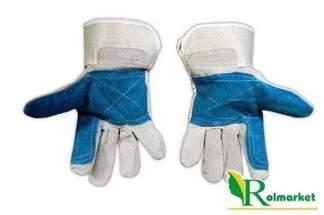 Rękawice robocze skórzane wzmacniane skórą z dwoiny bydlęcej RPOWER