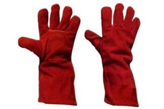Rękawice spawalnicze z dwoiny bydlęcej, czerwone, rozmiar 10 (30 par)