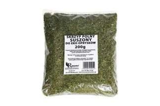Skrzyp polny 200 g - naturalny środek do eko oprysków na przędziorki, roztocza, wgryzki szczypiorkowe