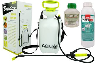 Skuteczny preparat na komary Cipex 10E 1l + utrwalacz 250 ml + opryskiwacz ciśnieniowy 5l