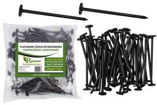 Szpilki plastikowe do mocowania agrotkaniny i agrowłókniny, 12cm (1000 szt.)