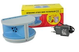 Ultradźwiękowy odstraszacz na myszy i szczury, odstraszacz szkodników, gryzoni Ultrasonic Attack Wave Pestrepeller LS–927
