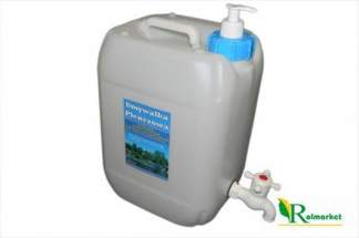 Umywalka turystyczna 10 litrów - przenośny pojemnik plenerowy na wodę z kranikiem + dozownik na mydło