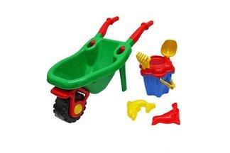 """Zestaw zabawek do piasku taczka  komplet """"Kwiatek"""" 6 elementów   mix kolorów"""