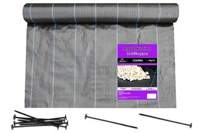 Agrotkanina czarna 2,7x100m (90g) + szpilki mocujące 19cm (50 szt)