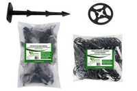 Kołki plastikowe do mocowania agrotkaniny, agrowłókniny i geowłókniny 12cm MIDI z podkładkami dociskającymi (100 szt)