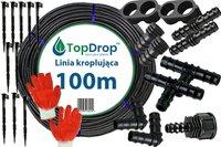 Linia kroplująca ( wąż kroplujący) 100 mb 2l/h 33cm + 36 akcesoriów