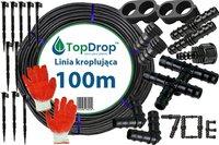 Linia kroplująca ( wąż kroplujący) 100 mb 2l/h 33cm + 70 akcesoriów