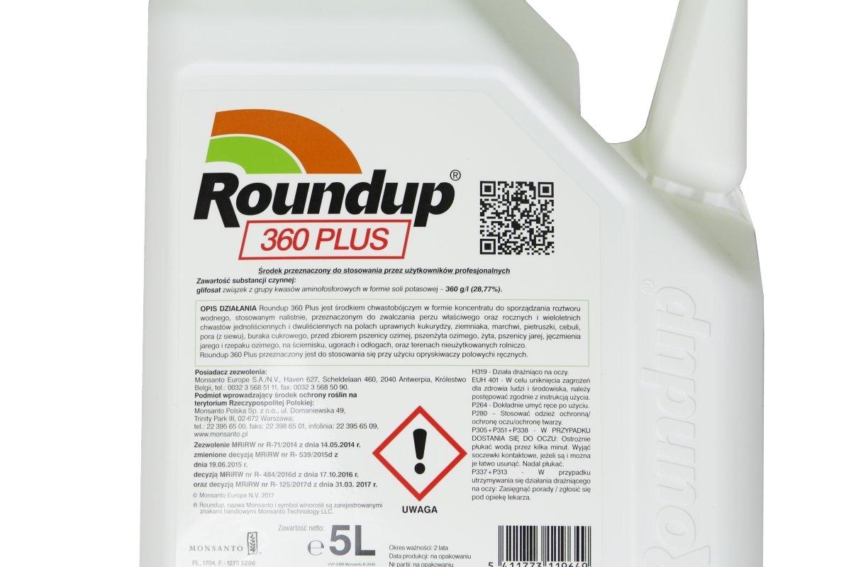 roundup 360 plus 5l rodek chwastob jczy herbicyd na wszystkie rodzaje chwast w