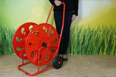 """Bardzo duży metalowy wózek na wąż ¾"""" 140 m PROFESSIONAL AG320"""