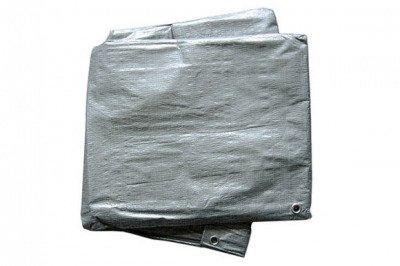 Bardzo gruba plandeka okryciowa srebrna 10x18m (130g)